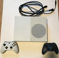 Microsoft Xbox One S 1TB Console - White With 2 Controllers