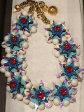 Authentic Shourouk Multicolor Rhinestone Necklace