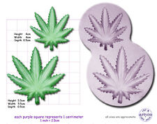 CANNABIS / HASH LEAF sm & med Craft Sugarcraft Fimo Wax Silicone Mould Mold