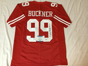 DEFOREST BUCKNER SIGNED SAN FRANCISCO 49ERS CUSTOM JERSEY BECKETT BAS COA H99974