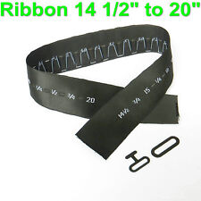 """Bow Tie Hardware Size Ribbon Strip Metal T Hook and Eye Ribbon 14 1/2"""" to 20"""""""