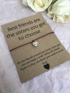 💓 Best Friends Are Sisters Wish bracelet/anklet Her Love Gift Present💓