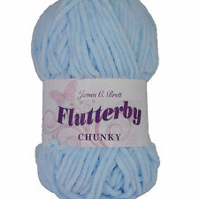 James C Brett Flutterby Chunky Knitting Wool Yarn 100g