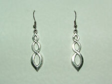 GODDESS FILIGREE DROP EARRINGS DARK SILVER PLATED GODESS hook