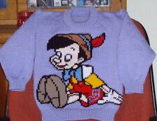 PINOCCHIO  .. SIZE 4-5.. NEW HAND KNITTED
