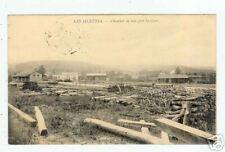 LES ISLETTES (55) CHANTIER DE BOIS pres de la GARE 1915