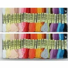 Long Floss Threads For Cross Stitching Embroidery Crochet Accessories Dyed Yarn