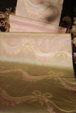VERY SWEET ANTIQUE PINK SILK TAFFETA FABRIC FROM 18 thc , LYON, FRANCE