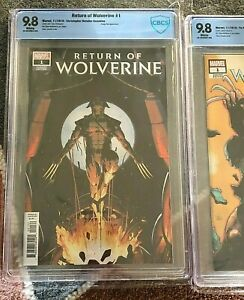 Return Of Wolverine #1 STORE Variant POP 3 CBCS CGC 9.8 1st First Appearance 🔥