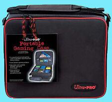 ULTRA PRO PORTABLE GAMING CASE BLACK w/ RED Trim Carrying Bag MTG Yugioh Pokemon