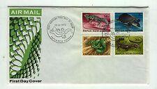 Papua New Guinea A18 FDC 1972 Fauna reptiles