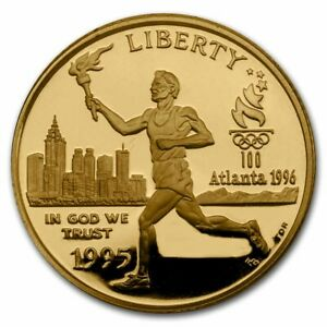 1995-W Gold $5 Commem Olympic Torch Runner Proof (Capsule Only) - SKU#217879
