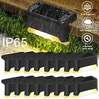 4 to 16 pcs Solar LED Deck Light Outdoor Garden Path Patio Stair Step Fence Lamp