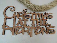 Gorgeous Personalised 'Christmas At' Sign. Wooden Disney Style, Retro, Vintage