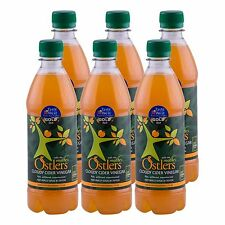 """Ostlers Raw Kosher Cloudy Cider Vinegar with """"The Mother""""  6 x 500ml"""