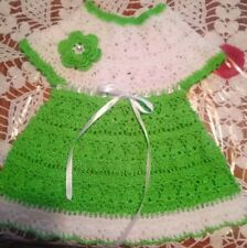 Handmade baby girl crochet dress