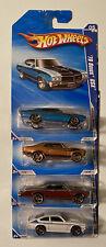 NEW Hot Wheels  4 Vehicle Lot-Buick GSX-Nova FTE, 67 GTO FTE, V-8 Vega FTE READ