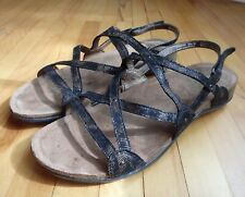 Dansko Jovie Coffee Swirl Womens 8.5 9 39 Strappy Comfort Sandals Cork Footbed