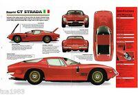 BIZZARRINI GT STRADA SPEC SHEET/Brochure/Catalog: 1965,1966,1967