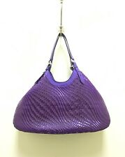 """Cole Haan Purple Plastic """"Gennevieve"""" Woven Triangle Tote"""