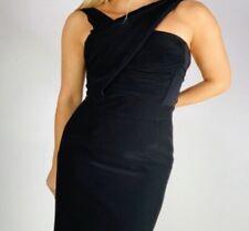 Reiss Luz Black Maxi Cocktail Dress Grecian Evening Gown Sz 8