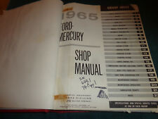 1965 FORD AND MERCURY BIG CAR SHOP MANUAL / ORIGINAL SERVICE BOOK GALAXIE+