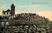 Watch Hill,R.I.,Lighthouse,Light House Point,c.1909