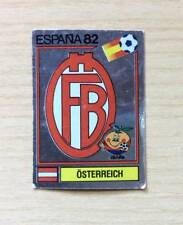 """FIGURINE PANINI """"ESPANA '82"""" - N°128  SCUDETTO / BADGE - AUSTRIA - NEW STICKER"""
