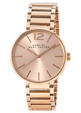 New Marc Jacobs Peggy Rose Gold-Tone Sunray Dial Women's Watch MBM3402