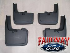 15 thru 18 F-150 OEM Genuine Ford Molded Splash Guards Mud Flaps with Wheel Lips