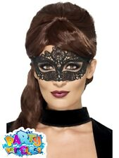 Embroidered Lace Eyemask Filigreewomens Halloween Fancy Dress Smiffys 44282