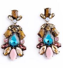 Dangle Stud long 53mm Earrings Elegant Fashion Crystal Rhinestone Ear Drop
