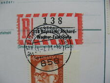 GERMANY BRD, uprated R-PC 1971, spec R-label Bayreuth Richard-Wagner-Festspiele