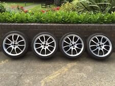 "GENUINE MINI JCW 18"" R105 DIAMOND POLISHED ALLOY WHEELS & TYRES R53 R56 R52 R57"
