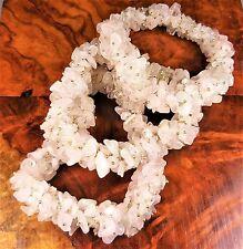 Light Rose Quartz Bunch Bracelet Raw Chip Bead Stretch G4 Healing Crystals Stone