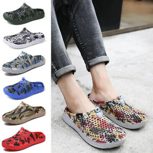 New Mens Slippers Comfortable Garden Clogs Soft Slip on Beach Mules Clog Sandals