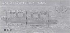Hongrie 2012 Titanic/Navires/LES NAUFRAGES/Nautique/transport/bateaux 2 V M/S (n45122)