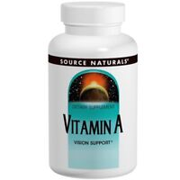 2 X Vitamin A 10000 IU by Source Naturals 100 Tablets