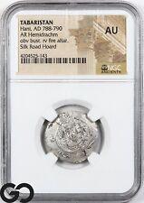 Tabaristan, Hani, AD 788-790 AR Hemidrachm NGC AU ** Silk Road Hoard, Ancient!