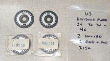 New Listingemco Unimat 3 Lathe Dividing Indexing Plates 24 30 36 Amp 40 I15u
