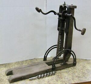 Swan Beam Boring Machine Barn Drill Press Tilt