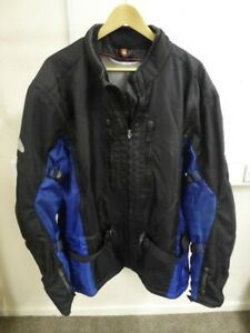 Hein Gericke - Black/Blue Motorbike/Motorcycle Jacket - Size XXXL UK 52