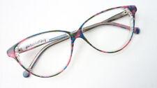 Schmetterlings Brille groß Damen Gestell Plastik grün rosa blau Vintage Grösse L