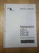 Nakamichi Service Manual ~ CR-2/2A/2E/20 Kassettendeck ~ Original