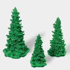 Dept 56 Village Green Glitter Trees 3 Trees #808996 New, Great Accessory