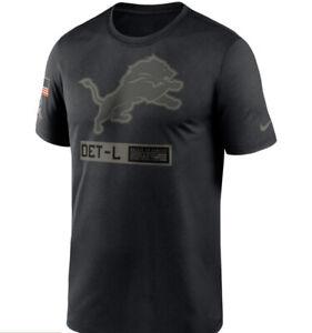 Men's Nike T-Shirt Salute to Service Detroit Lions Black Size Large NEW
