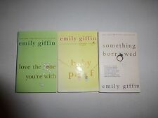 EMILY GIFFIN - Lot of 3 - Something Borrowed, Blue, Baby Proof, Love, Heart - R1