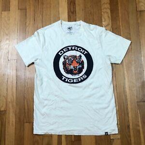 Detroit Tigers 47 Brand Men's Medium Shirt. New NWOT White Top. MLB Baseball