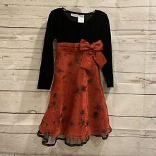 Blueberi Boulevard Girls Holiday Christma Black Red Velvet Pageant Dress Size 6