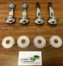 Doorwindow Crank Handles Chevy Pickup Truck 67 68 69 70 71 72 Set Withwashers Gmc
